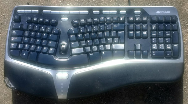 a man size keyboard ideal for working with your laptop at a sensible height
